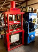 "Specially Manufactured Model PJP-2B 4-Post Hydraulic Press; 18"" x 25"" Between Post, 16"" x 23"" Heated"