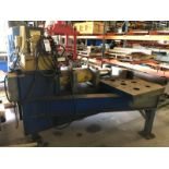 """Specially Manufactured 36"""" x 84"""" Straightening Table, Horizontal Ram Hydraulic Press; with Enerpac"""