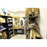 Maintnance Room Content, Racks with Misc. Shop Supplies, Gardening Tools, and Hardware *No Tanks