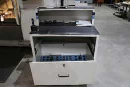 Tool Cabinet with Assorted Tooling for Fadal VMC-4020, (13) Tool Holders and Assorted Collets