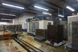 "Makino MC98-A120 4-Axis Horizontal Machining Center, Fanuc 16 Pro 3 Control, 36""x 32"" x 29.5"""