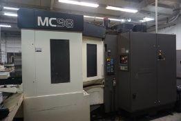 "Makino MC98-A120 4-Axis HMC, Fanuc 16 Pro 3 Control, 36""x 32"" x 29.5"" Travels, 360 Deg. B, CT 50,"