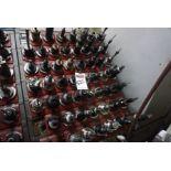 (51) Cat 50 Tool Holders w/ Rack