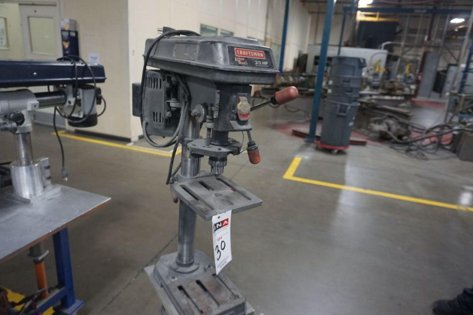 Craftsman Laser Trac 3/4 HP Drill Press - Image 3 of 3