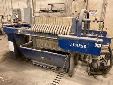 """Siemens J Press 17 Plate Filter Press, Approx. 32"""" x 32"""" x 2"""" Filters, ARO Diaphram Pump"""
