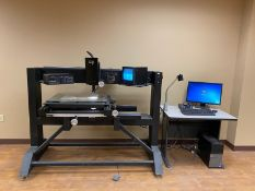 MicroVu M321 Optical Measuring System, s/n 4814, MicroVu 9050A Video Recticle, New 1999