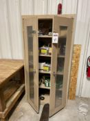 Sandusky 2 Door Metal Cabinet with Nails, Staples, & Screws