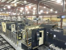 (2) Makino MAG3 5-Axis High Speed Horizontal Machining Cell, 12 A.P.C. Pallet System, as New as 2008