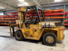 14,000lb Caterpillar V140 LPG Lift Truck, s/n 59W00435, New 1979