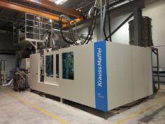 1460 Ton 218oz Krauss Maffei KM1300-14000MX Integrated Molding Compounder Machine, New 2012