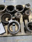LCO (6) Broken Assorted Size Bushings, (4) Assorted Size Mandrals,