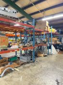 6 Sections of Pallet Racks with Content