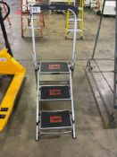 Little Giant Ladder Systems, Safety Steps, M/N-10310B, 3-Step, w/ Bar and Tray, 300lb Max Weight Cap