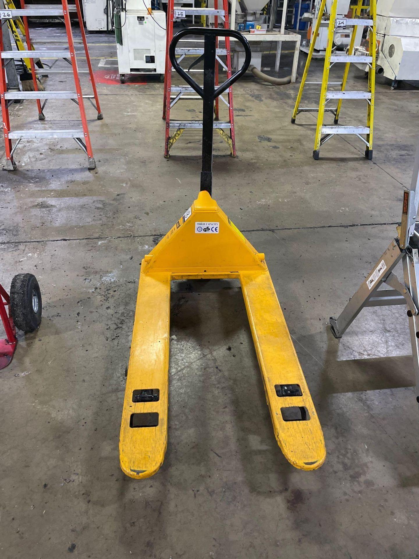 Uline Short Fork Pallet Jack, M/N- H-4803, S/N- 187800, 5,500lb Max Capacity, 42in Forks
