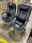 Black Executive Rolling Desk Chairs, w/ Arms