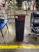 Lectern, w- Mic Holder and Built-In Oklahoma Sound 100 Series System