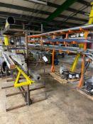 4 Metal Racks w/ Assorted Metal & Plastic Pipes