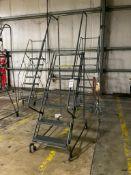 Ballymore 7 Step, w/ Platform Deck Rolling Warehouse Ladder, 350lb Max Capacity