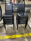 Black Vinyl Stackable Conference/Banquet Chairs, w/ Padded Seat