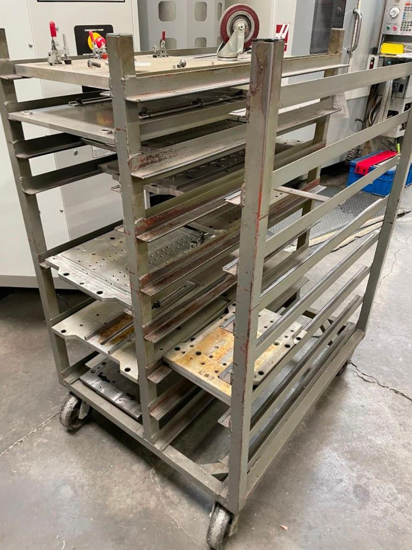 Metal Cart with Aluminum Plates - Image 3 of 4