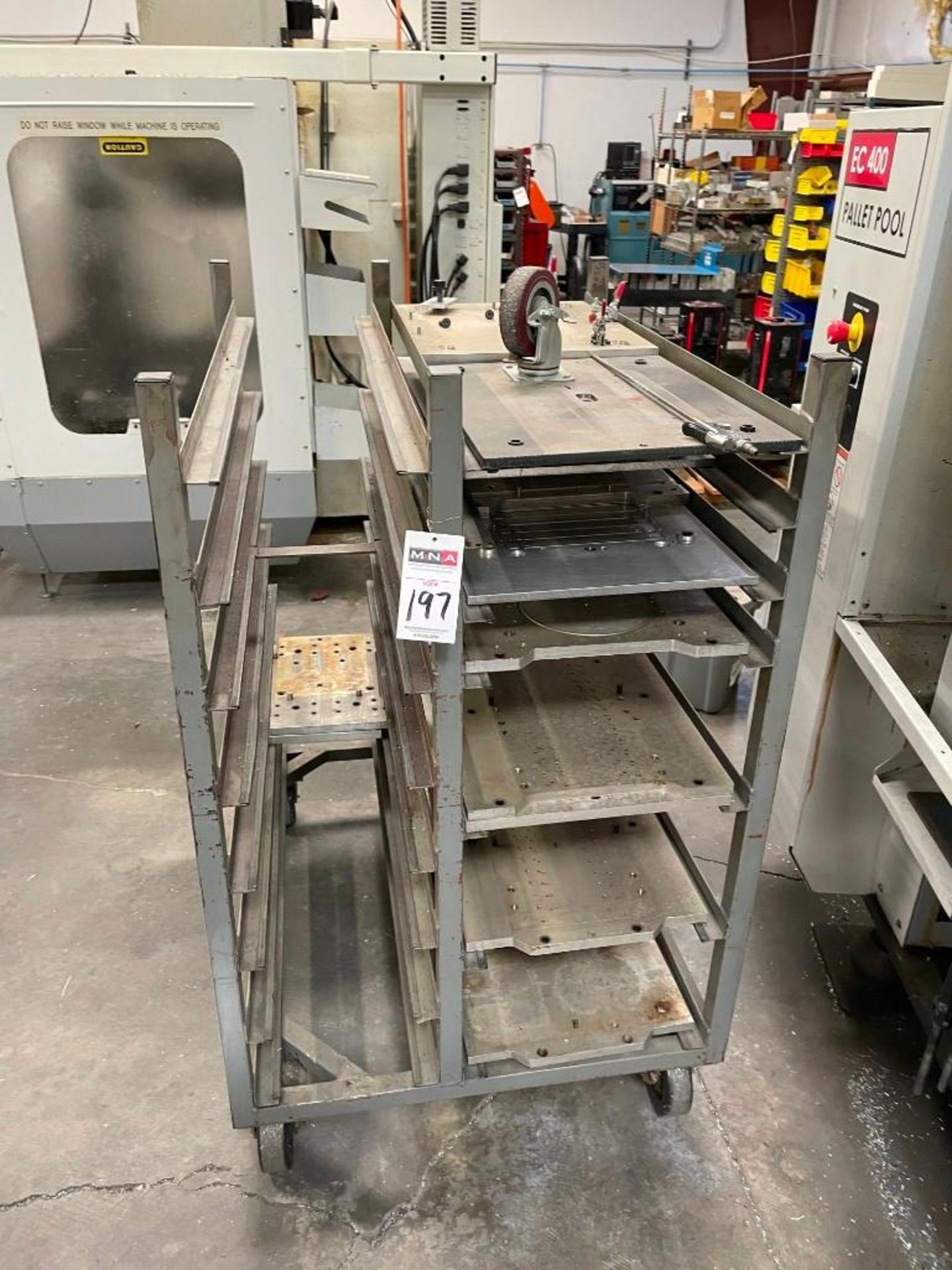Metal Cart with Aluminum Plates - Image 2 of 4