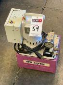 SPX Hytec Model B 5000 PSI / 350 BAR Hydraulic Pump, s/n 312847