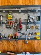 Assorted Hand Tools on Shadow Board