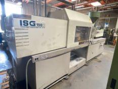 150 Ton Toshiba ISG150N Injection Molder, 8.1oz Shot Size, Injectvisor V10 Control, New 1999