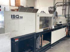 142 Ton Toshiba ISG150 Injection Molder, 10.2oz Shot Size, Injectvisor S10 Control, New 1995