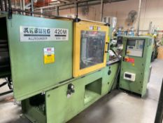 110 Arburg Allrounder 420M Injection Molder, 6.1oz Shot Size, Multronica Control, New 1995