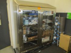 Strong Hold #66-LD-244-SR-SL-FLP-SS Stainless Clear View Storage Cabinet