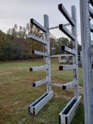 "Cantilever Rack; (2) 12' High Uprights x 42"" Arms, 3,000 Lb. Cap."