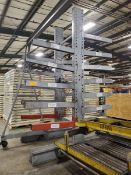 "Two-Sided Cantilever Rack; (2) 12' High Uprights x 48"" Arms, 3,000 Lb. Cap."