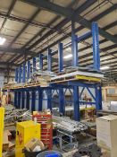 Cantilever Rack; (10) Approx. 20' High Uprights x 3' Arms, 3,000 Lb. Cap. (EXCLUDING MATERIAL)