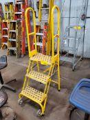 U-Line 3-Step Rolling Platform Ladder