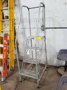 U-Line 4-Step Rolling Platform Ladder