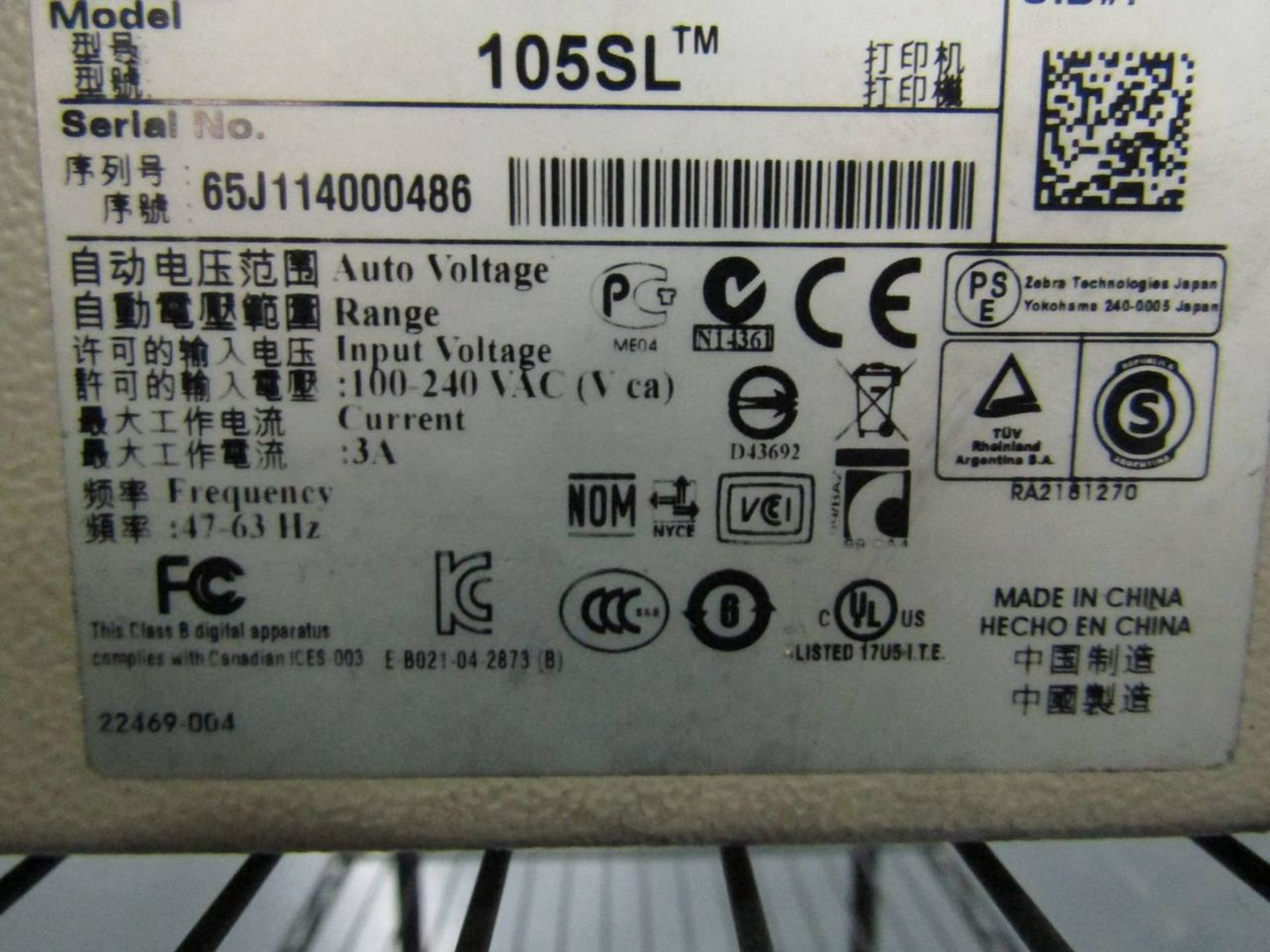 Zebra 105SL Thermal Label Printer - Image 3 of 3