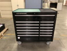 """U.S. General 44"""" x 22"""" Double Bank Roller Cabinet w/ Contents"""