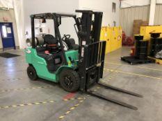 Late Deliver 4/9 - Mitsubishi 4,500 Lb. Cap. Propane Forklift, Model FG25N