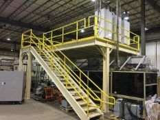 2010 Bauer Industries Lot of (3) Module Electric Test Stations with Mezzanine