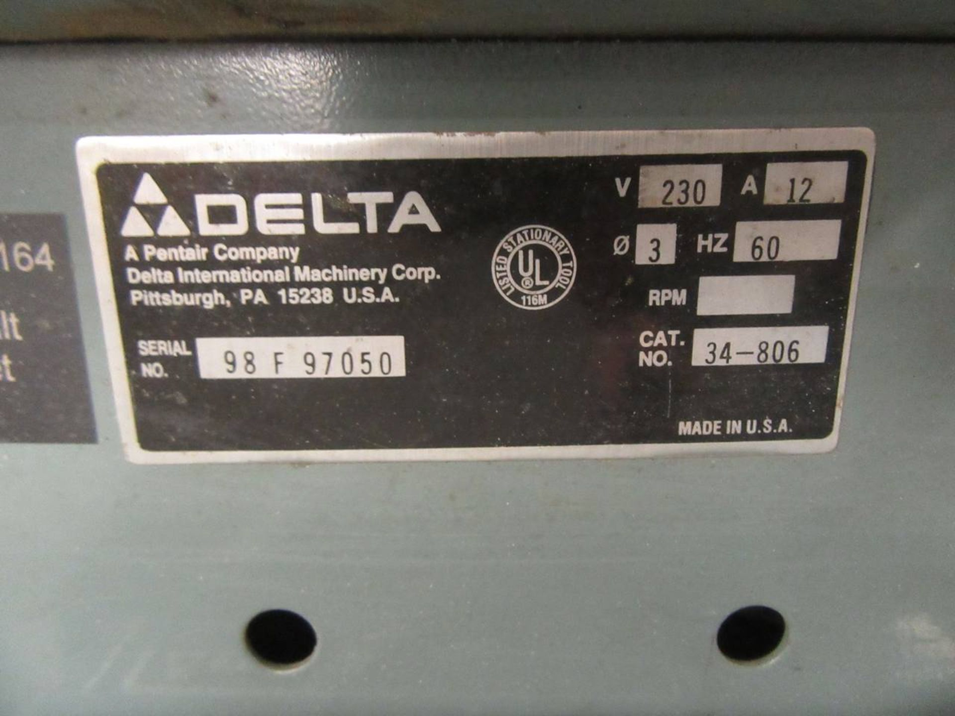 Delta 34-806 Table Saw - Image 4 of 4