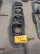 """(5) 6"""" C Clamps"""