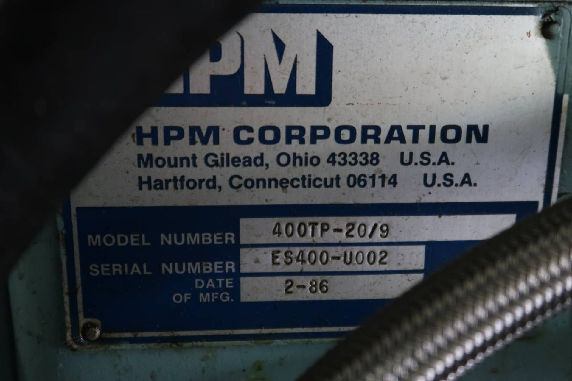 1986 HPM 400-TP-20 400-Ton Thermo Plastic Injection Molding Press - Image 20 of 40