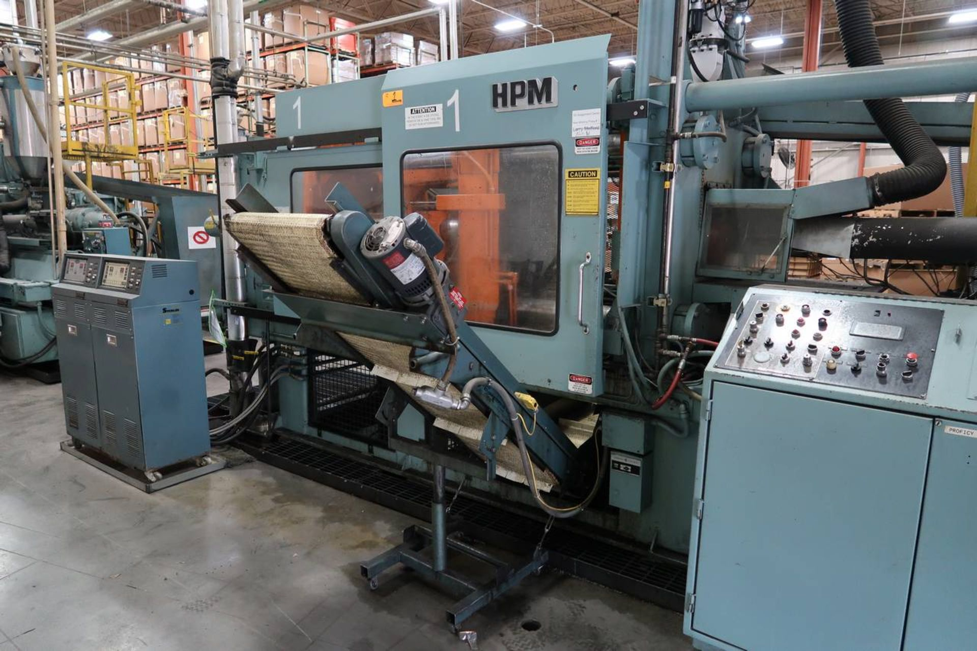 1986 HPM 400-TP-20 400-Ton Thermo Plastic Injection Molding Press - Image 6 of 40