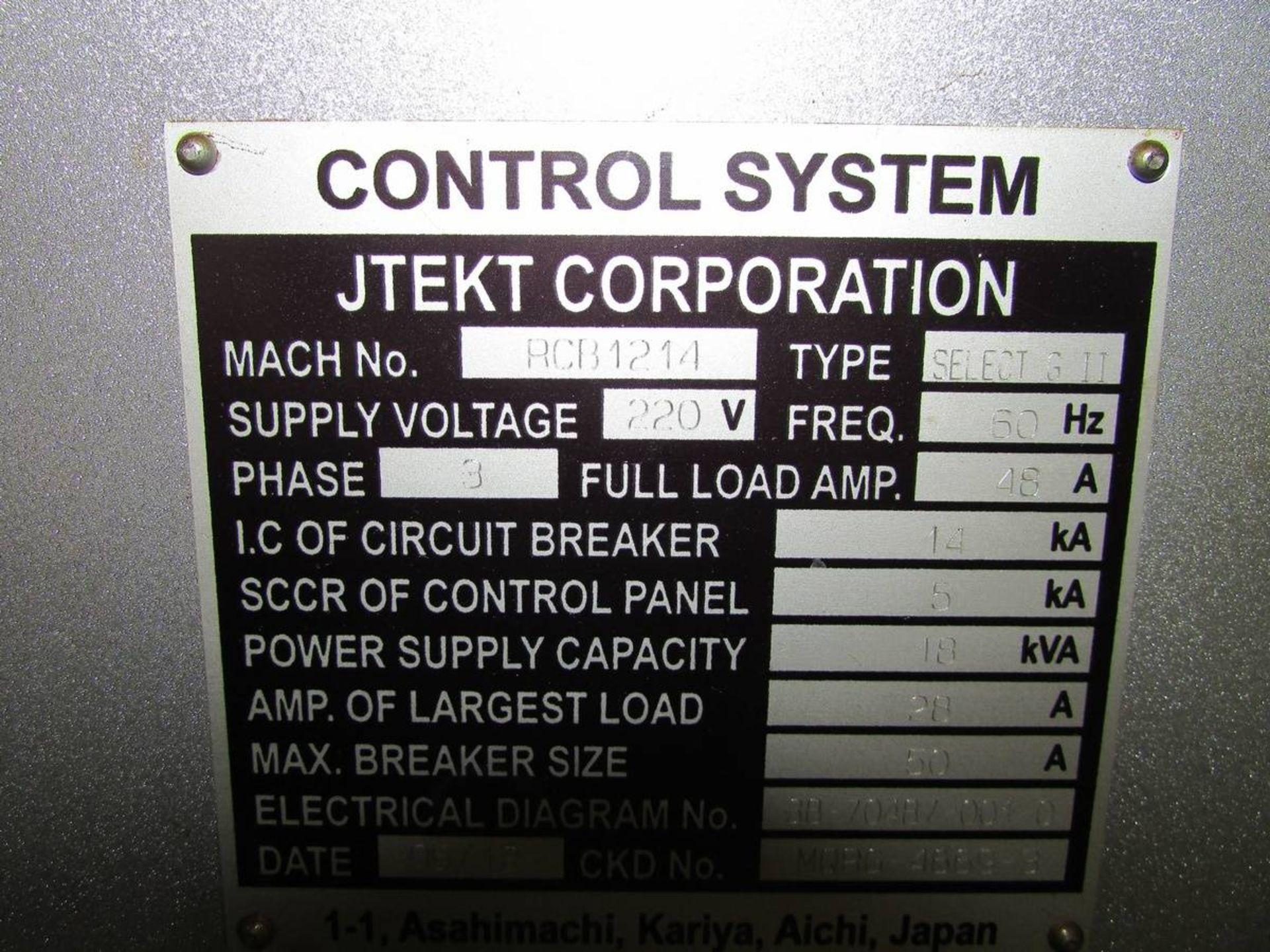 2012 Toyoda/ JTEKT 45m Select G II CNC OD Cylindrical Grinder - Image 20 of 21