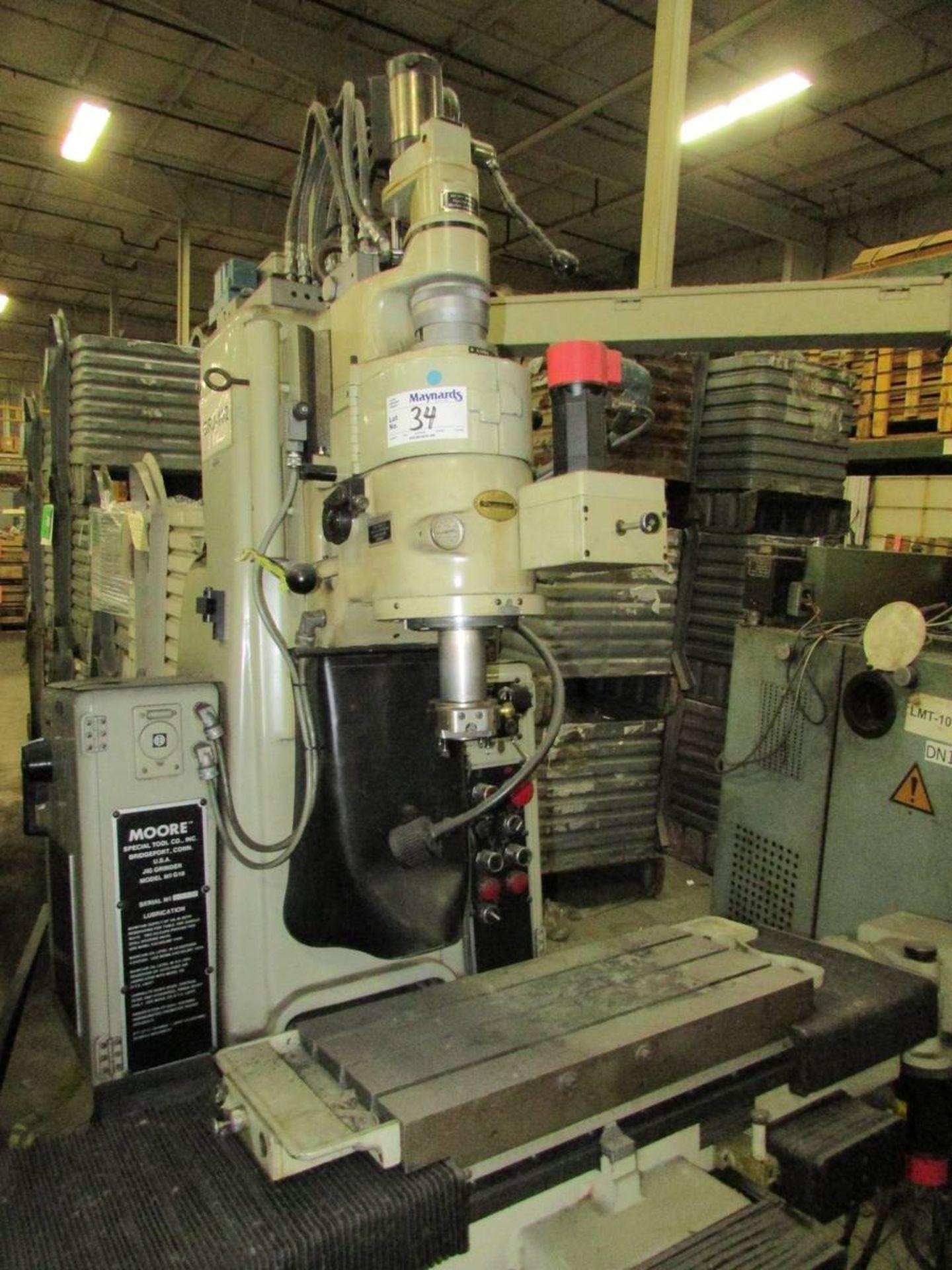 Moore G-18 Vertical CNC Jig Grinder - Image 2 of 28