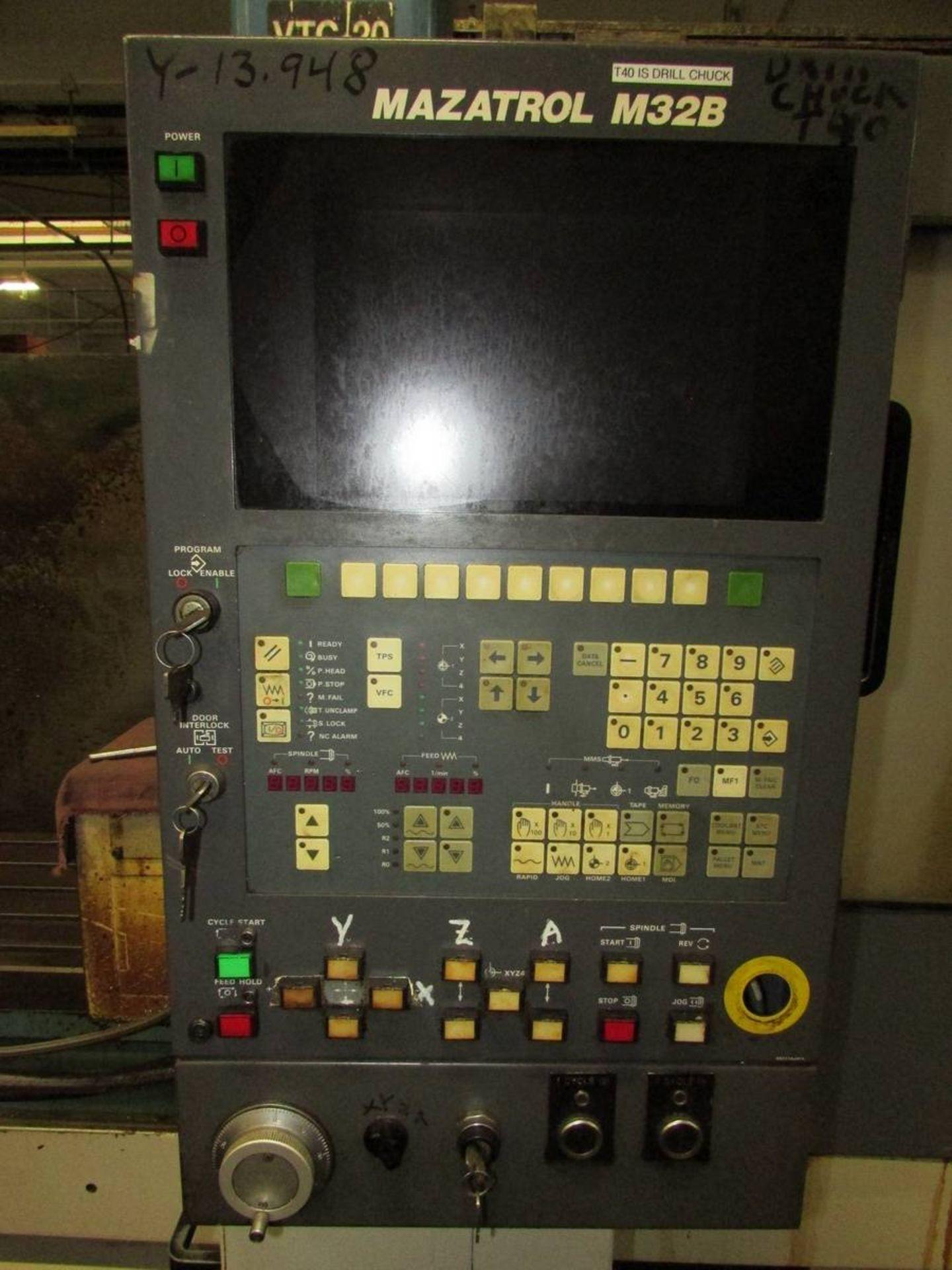 1996 Mazak VTC-20C Vertical Traveling Column 3-Axis CNC Machining Center - Image 12 of 20