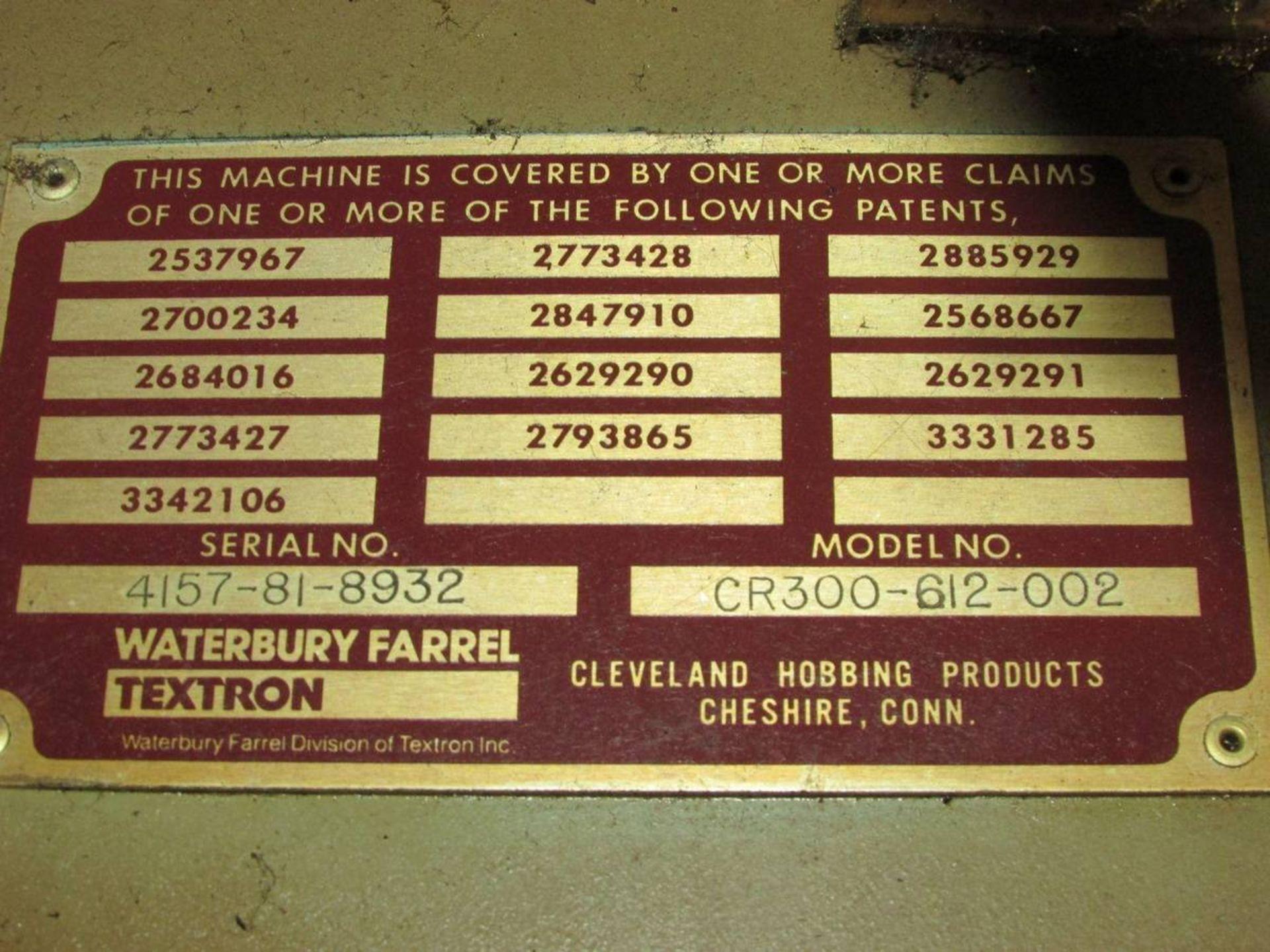 Cleveland/ Waterbury Farrel CR300-612-002 Universal CNC Gear Hobbing Machine - Image 19 of 19
