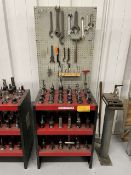 40-Taper Tool Holders w/ Huot Tool Tower & Hand Tools
