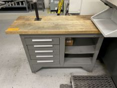 Kennedy 5-Drawer Butcher Block Top Workbench w/ Contents